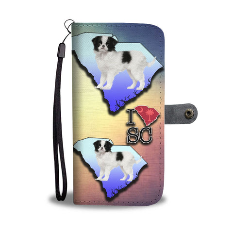 Lovely Japanese Chin Dog Print Wallet Case-Free Shipping-SC State