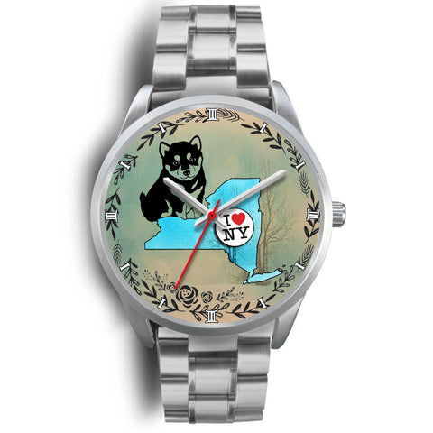 Cute Shiba Inu Art New York Christmas Special Wrist Watch-Free Shipping