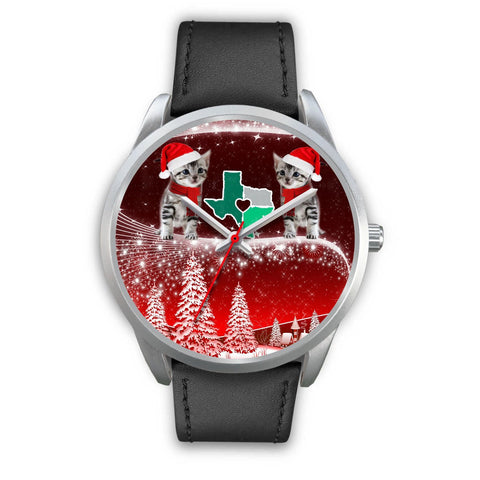 Cute American Shorthair Cat Texas Christmas Special Wrist Watch-Free Shipping