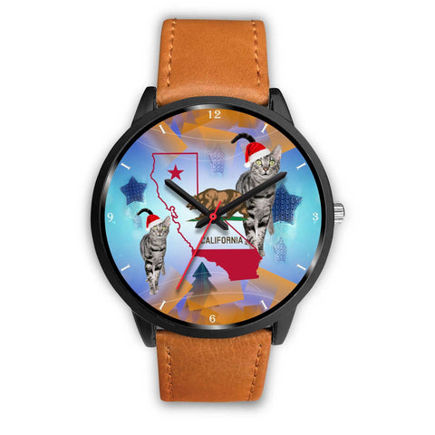 Egyptian Mau Cat California Christmas Special Wrist Watch-Free Shipping