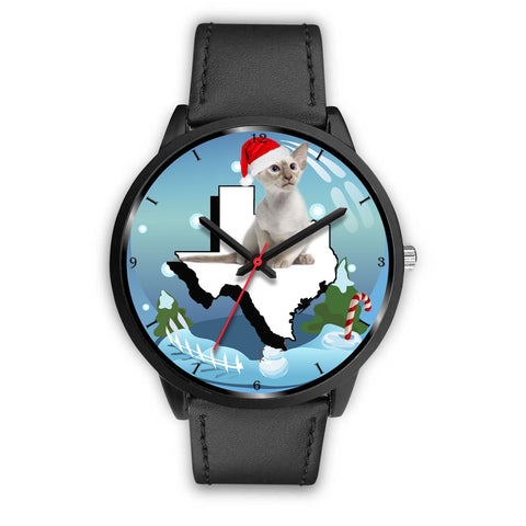 Oriental Shorthair Cat Texas Christmas Special Wrist Watch-Free Shipping