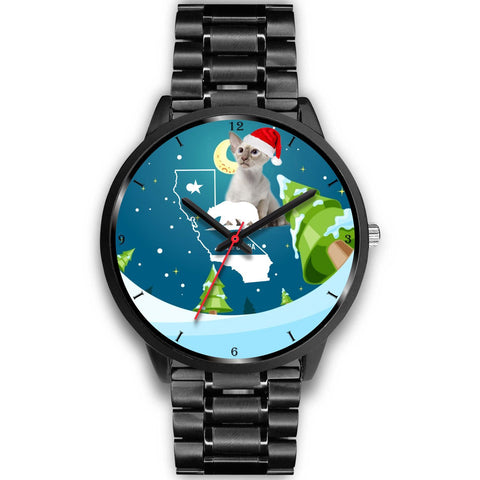 Oriental Shorthair Cat California Christmas Special Wrist Watch-Free Shipping