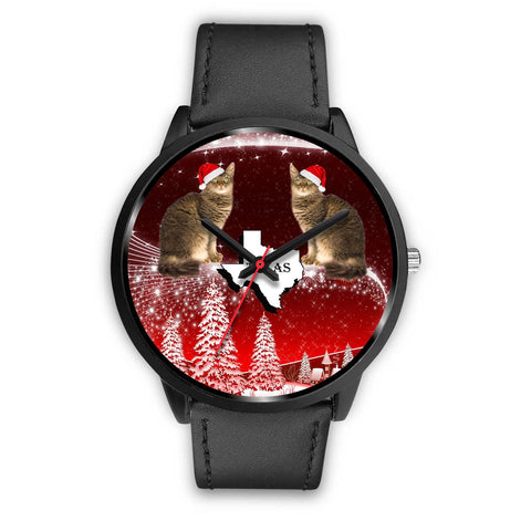 Laperm Cat Texas Christmas Special Wrist Watch-Free Shipping