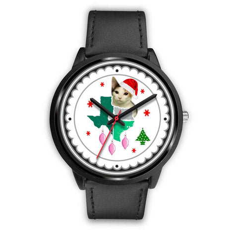 Japanese Bobtail Cat Texas Christmas Special Wrist Watch-Free Shipping