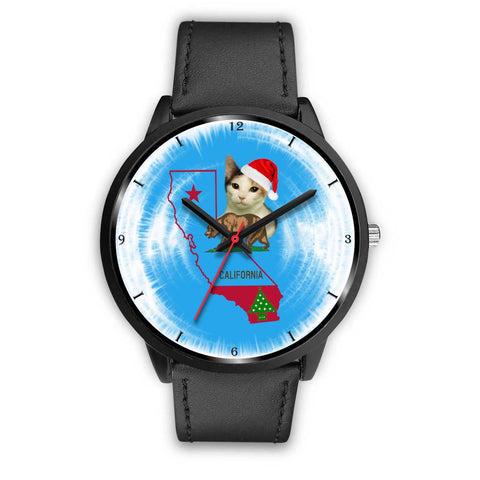Japanese Bobtail Cat California Christmas Special Wrist Watch-Free Shipping
