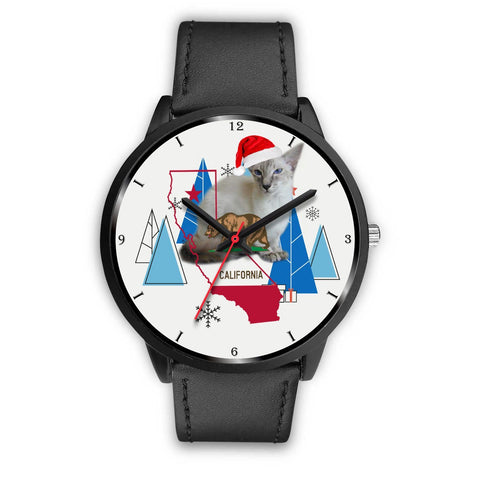 Javanese Cat California Christmas Special Wrist Watch-Free Shipping