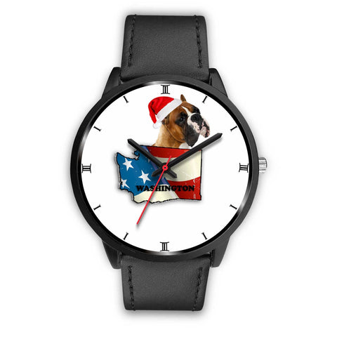 Boxer Dog Washington Christmas Special Wrist Watch-Free Shipping