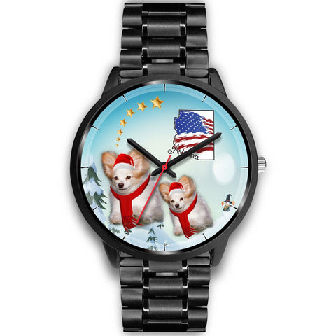 Papillon Dog Arizona Christmas Special Wrist Watch-Free Shipping