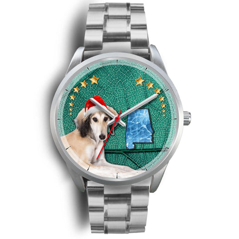 Saluki Dog Alabama Christmas Special Wrist Watch-Free Shipping