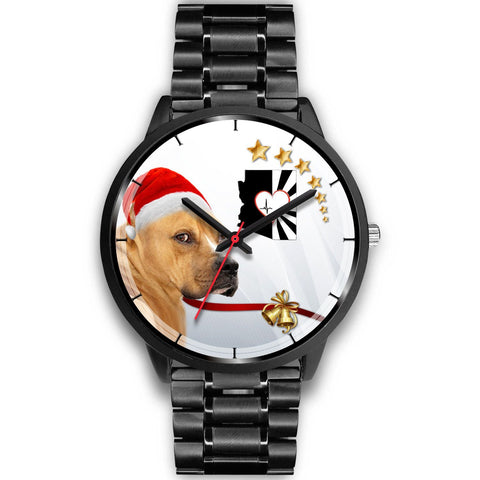 Staffordshire Terrier Arizona Christmas Special Wrist Watch-Free Shipping