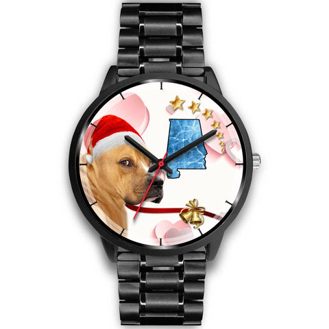 Staffordshire Terrier Alabama Christmas Special Wrist Watch-Free Shipping