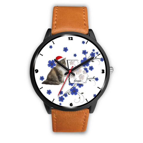 Norwegian Forest Cat Georgia Christmas Special Wrist Watch-Free Shipping