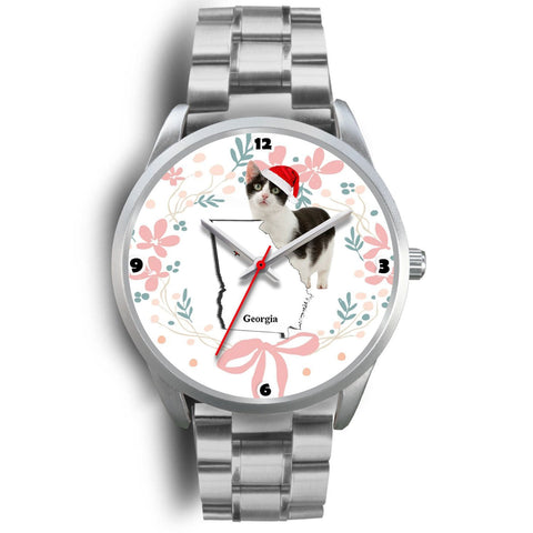Munchkin Cat Georgia Christmas Special Wrist Watch-Free Shipping
