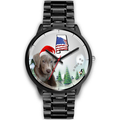 Weimaraner Dog Alabama Christmas Special Wrist Watch-Free Shipping