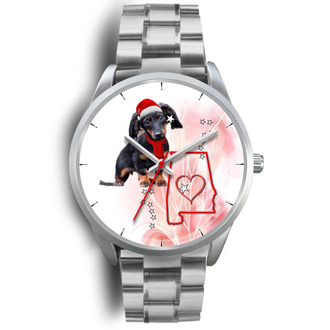 Cute Dachshund Alabama Christmas Special Wrist Watch-Free Shipping