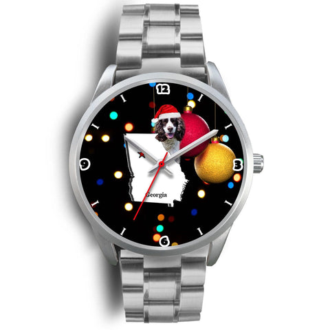 English Springer Spaniel Georgia Christmas Special Wrist Watch-Free Shipping