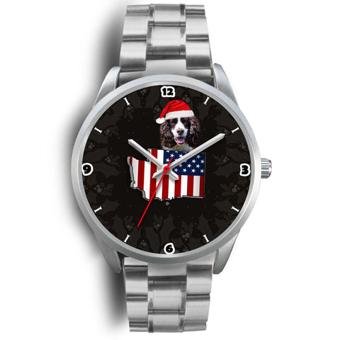 English Springer Spaniel Washington Christmas Special Wrist Watch-Free Shipping