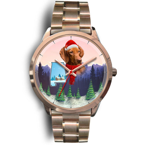 Cute Vizsla Alabama Christmas Special Wrist Watch-Free Shipping