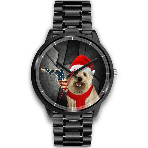 Cairn Terrier Florida Christmas Special Wrist Watch-Free Shipping