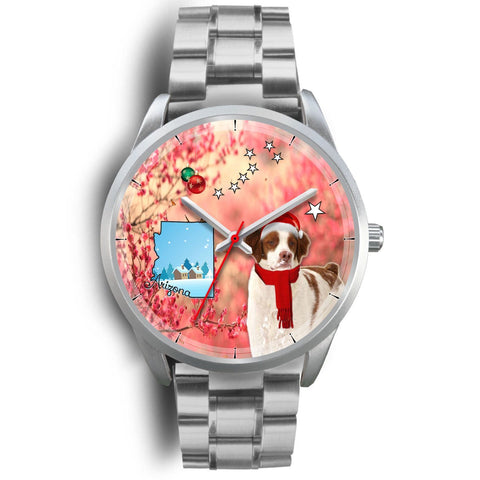 Brittany Dog Arizona Christmas Special Wrist Watch-Free Shipping