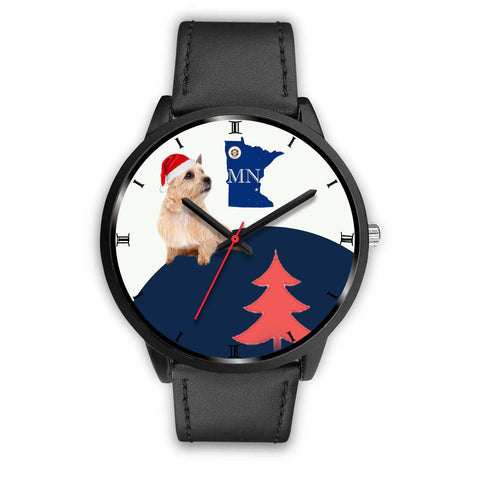 Norwich Terrier Minnesota Christmas Special Wrist Watch-Free Shipping