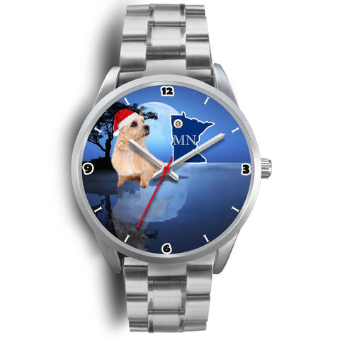 Cute Norwich Terrier Minnesota Christmas Special Wrist Watch-Free Shipping