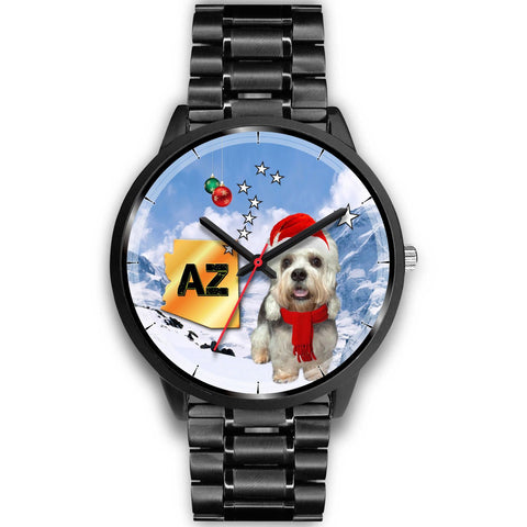 Dandie Dinmont Terrier Arizona Christmas Special Wrist Watch-Free Shipping