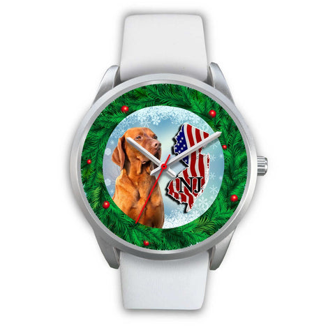 Lovely Vizsla Dog New Jersey Christmas Special Wrist Watch-Free Shipping