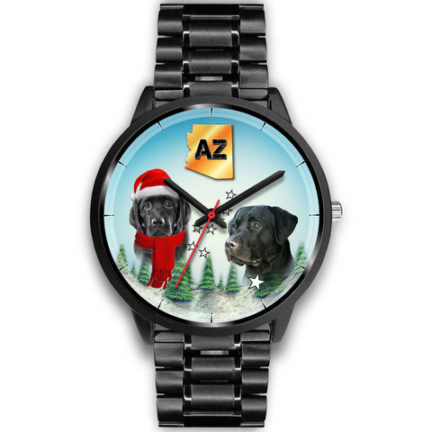 Black Labrador Retriever Arizona Christmas Special Wrist Watch-Free Shipping