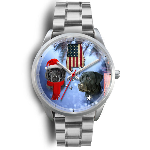 Black Labrador Retriever Alabama Christmas Special Wrist Watch-Free Shipping