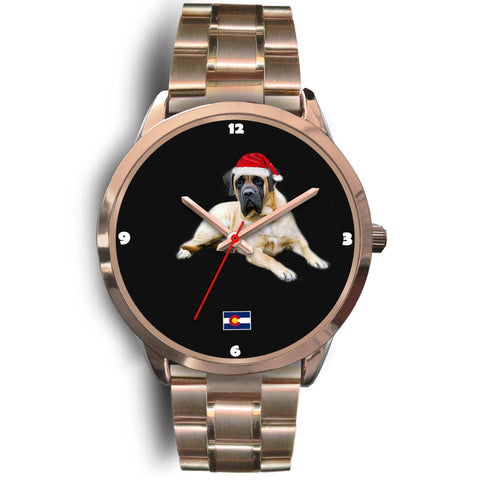 English Mastiff Dog Colorado Christmas Special Wrist Watch-Free Shipping