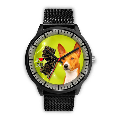 Basenji Dog New Jersey Christmas Special Wrist Watch-Free Shipping