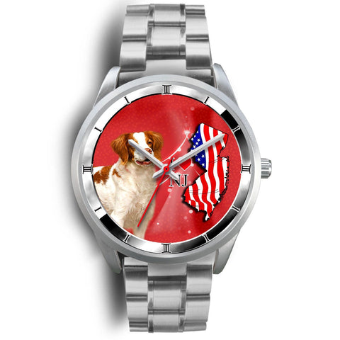 Cute Brittany Dog New Jersey Christmas Special Wrist Watch-Free Shipping