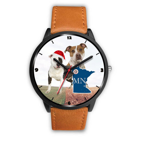 American Staffordshire Terrier Minnesota Christmas Special Wrist Watch-Free Shipping