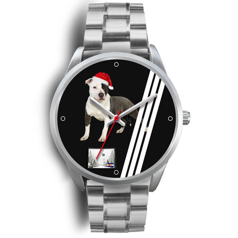 American Staffordshire Terrier Colorado Christmas Special Wrist Watch-Free Shipping