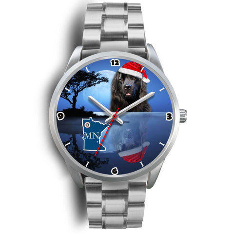 Newfoundland Dog Minnesota Christmas Special Wrist Watch-Free Shipping