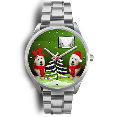 Old English sheepdog Colorado Christmas Special Wrist Watch-Free Shipping