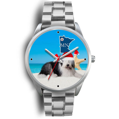 Old English sheepdog Minnesota Christmas Special Wrist Watch-Free Shipping