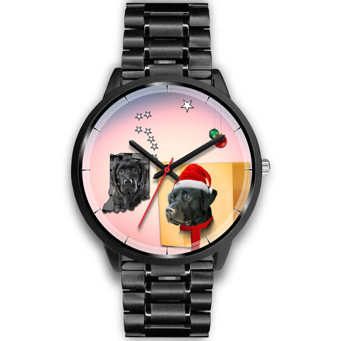 Black Labrador Retriever Indiana Christmas Special Wrist Watch-Free Shipping