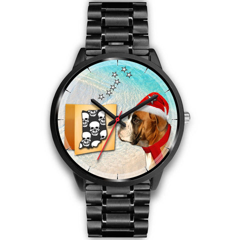 Boxer Dog Indiana Christmas Special Wrist Watch-Free Shipping
