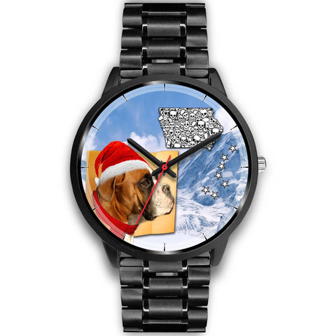 Boxer Dog Iowa Christmas Special Wrist Watch-Free Shipping