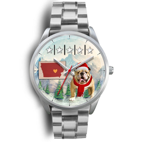 Cute Bulldog Iowa Christmas Special Wrist Watch-Free Shipping