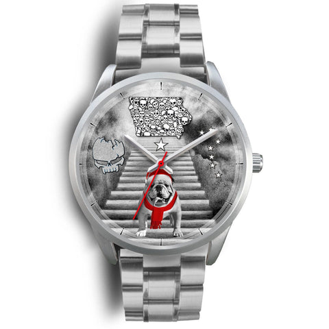 Bulldog Iowa Christmas Special Wrist Watch-Free Shipping