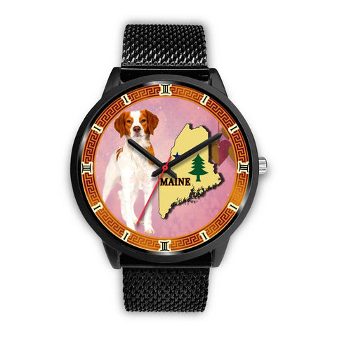Brittany Dog Maine Christmas Special Wrist Watch-Free Shipping