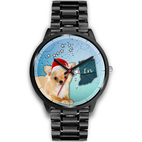 Chihuahua Dog Indiana Christmas Special Wrist Watch-Free Shipping