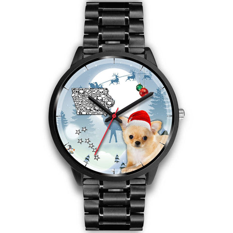 Cute Chihuahua Iowa Christmas Special Wrist Watch-Free Shipping