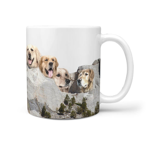Golden Retriever Mount Rushmore Print 360 Mug