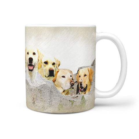 Labrador Color Sketch Mount Rushmore Print 360 Mug