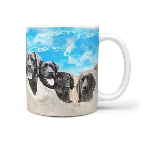 Labrador Pastel Art On Mount Rushmore Print 360 Mug