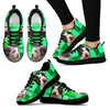 Lagotto Romagnolo Dog Print (Black/White) Running Shoes For Women-Free Shipping-Paww-Printz-Merchandise
